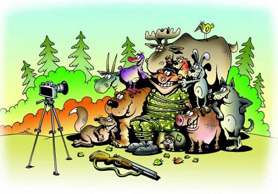Анекдоты про охоту и рыбалку