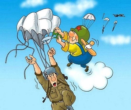 анекдот про парашютистов