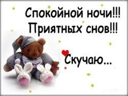 Смс Спокойной ночи