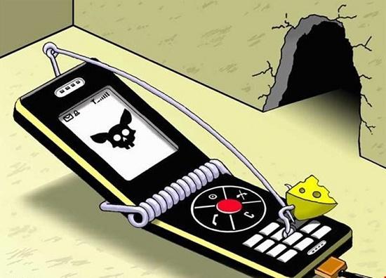 смешные рисунки про телефон довольно