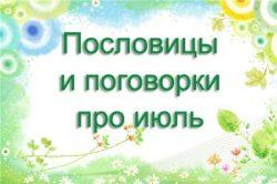 Пословицы и поговорки про июль