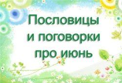 Пословицы и поговорки про июнь
