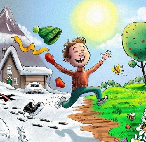 Смешные карикатуры про весну
