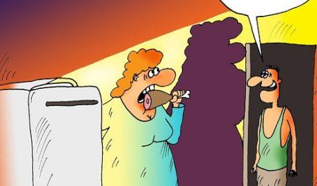 анекдоты ночь холодильник