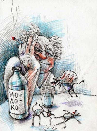 карикатура про бутылку