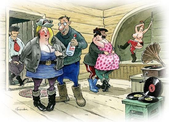карикатура про дискотеку