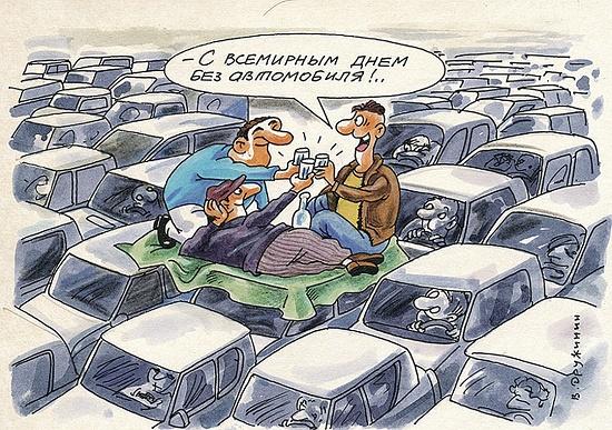 карикатура про машины и транспорт