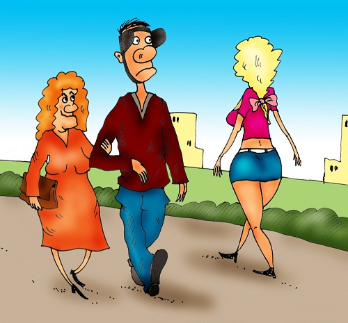 карикатура про отношения