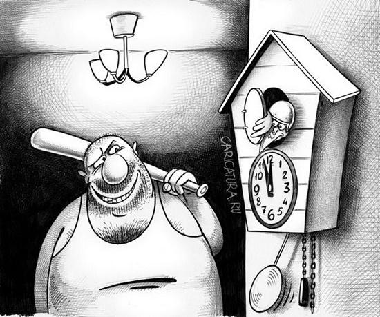 карикатура с черным юмором