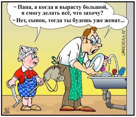 карикатура про мужа