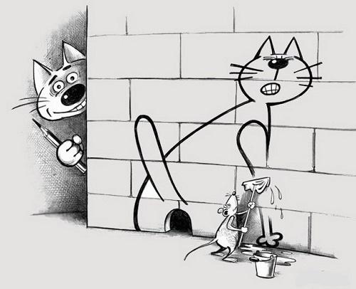 карикатура про картины и художников
