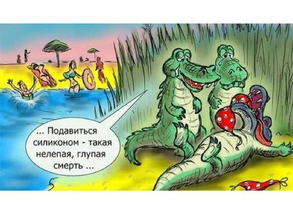 анекдоты про крокодилов