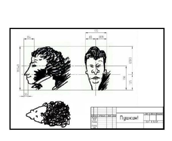 чертеж пушкина