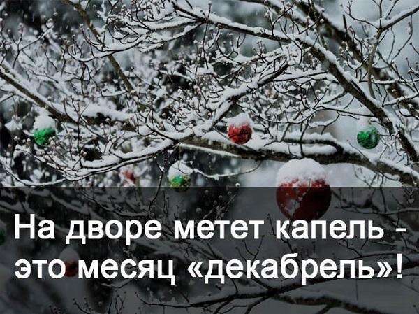 Прикольные статусы про декабрь