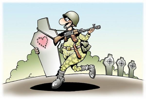Смешные анекдоты про рядовых солдат