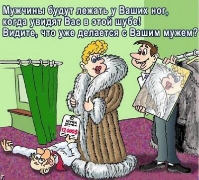 карикатура картинка про шубу