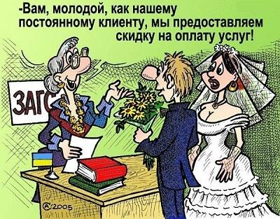 карикатура про жениха и невесту