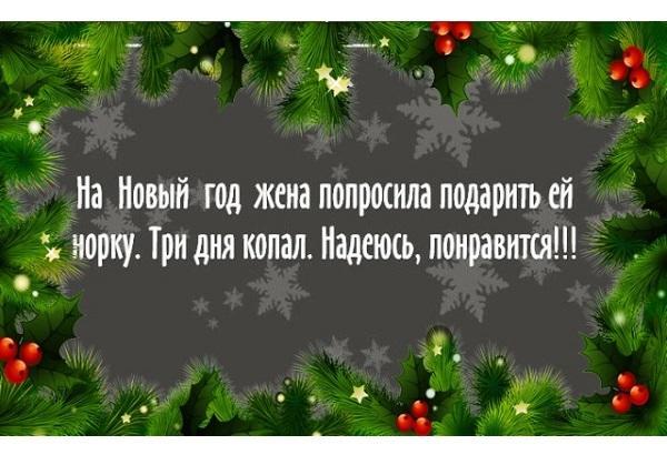 Новогодние веселые статусы
