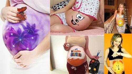 прикольное фото с беременной