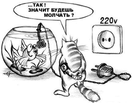смешная карикатура про кота