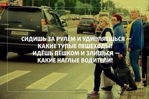 Лучшие цитаты про пешеходов