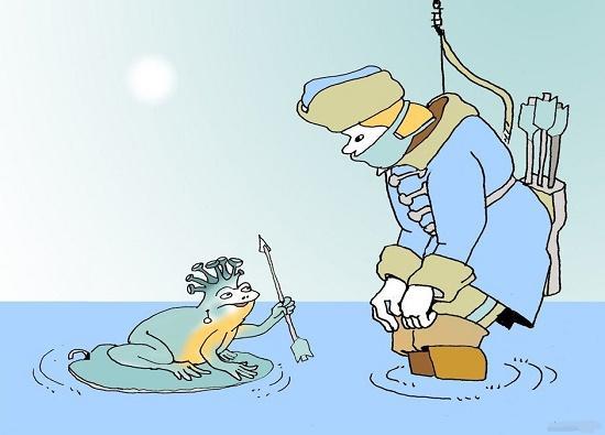 карикатура про коронавирус и маски