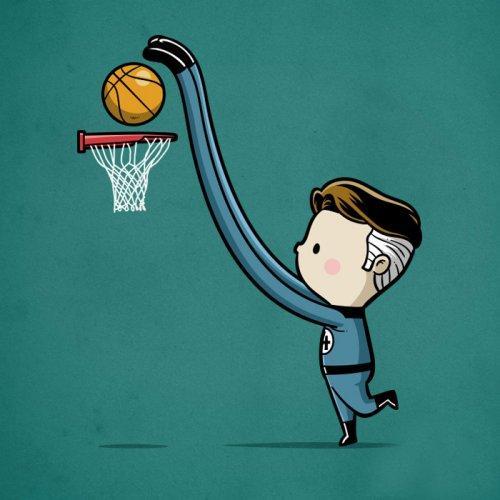 мультяшный супергерой в спорте