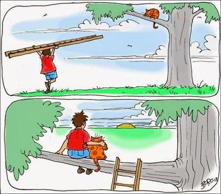 веселая жизнь в карикатурах