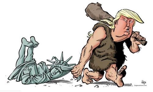 забавная карикатура про трампа