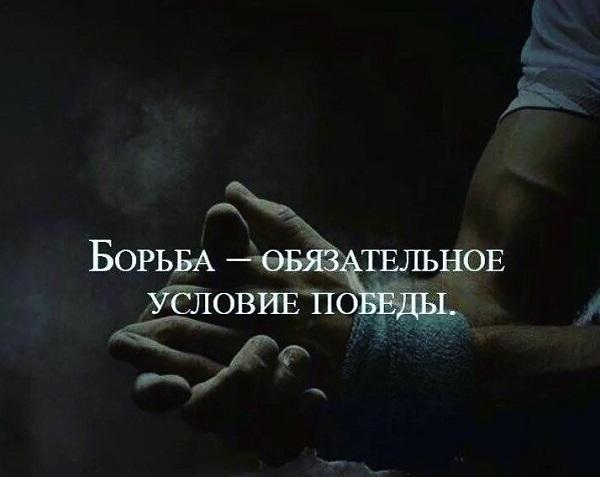 Красивые цитаты о борьбе