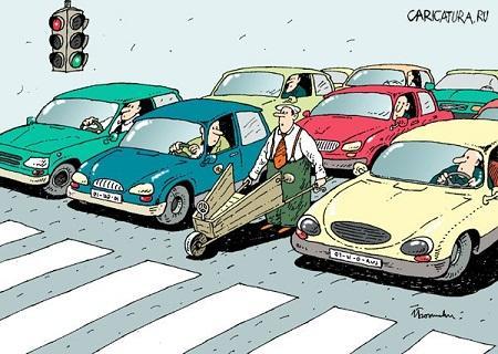 карикатура про машины и водителей