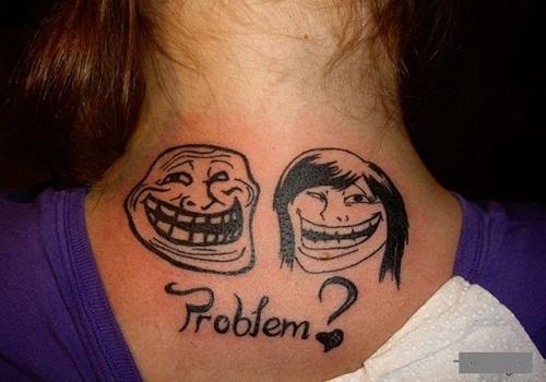 Необычные татуировки на девушках