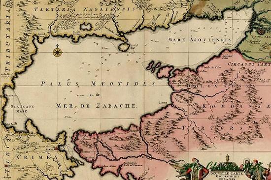азовское море на древней карте
