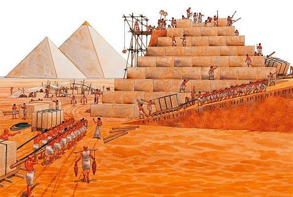 древний египет строительство пирамид