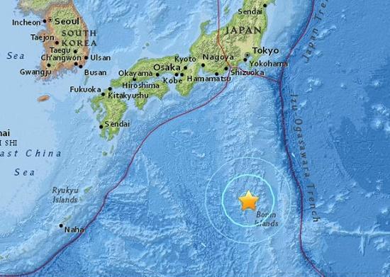 землетрясения в тихом океане