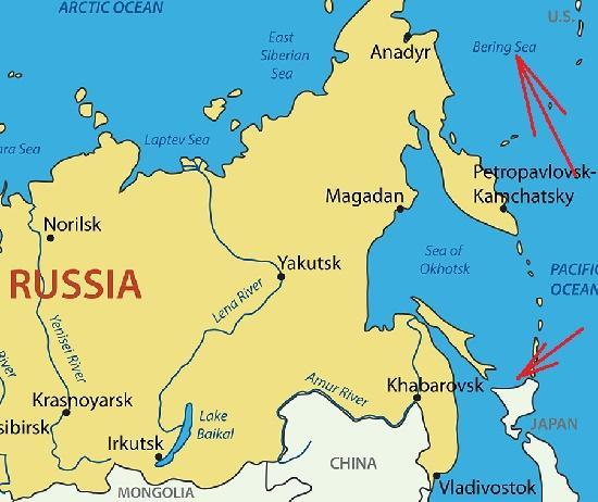 граница россии с японией и сша