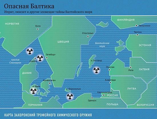 химическое оружие на дне балтики