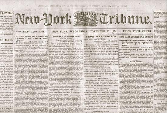 Карл Маркс в New York Daily Tribune