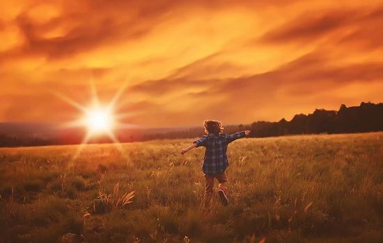 солнце и ребенок