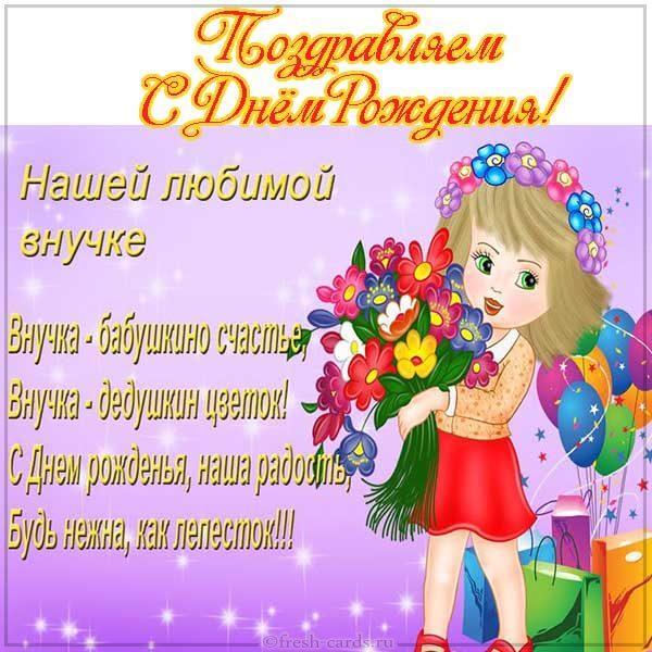 Read more about the article Поздравления любимой внучке бесплатно