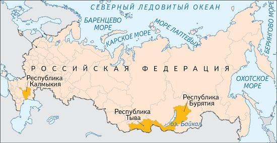 народы исповедующие буддизм в россии