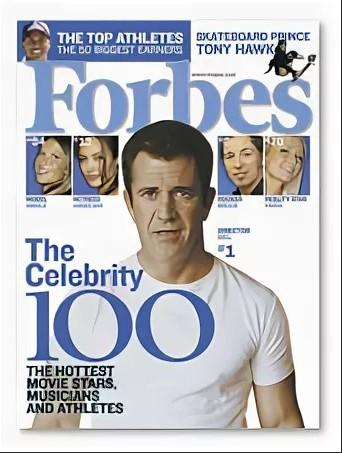 Мел Гибсон в журнале Forbes