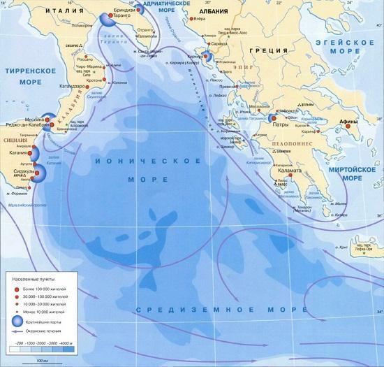 средиземное море глубина максимальная