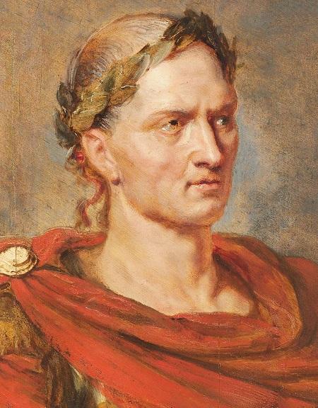 венок на голове цезаря